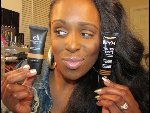NEW #NYX TINTED MOISTURIZER VS. ELF TINTED MOISTURZER | BATTLE OF THE BRANDS | FULL DEMO