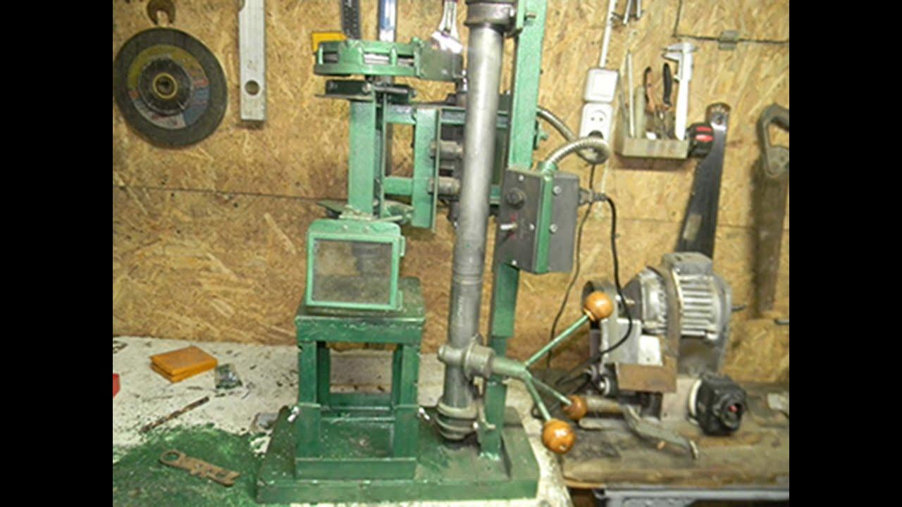 Как сделать из рулевой рейки станок сверлильный станок