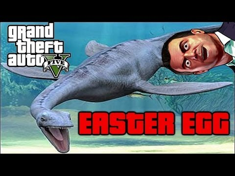 GTA 5- EASTER EGG esqueleto monstruo marino / sea ​​monster skeleton