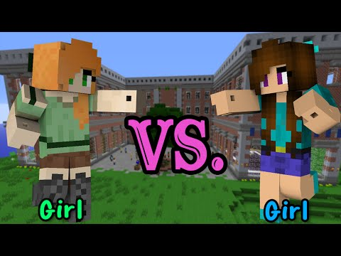 Girl VS. Girl - Minecraft