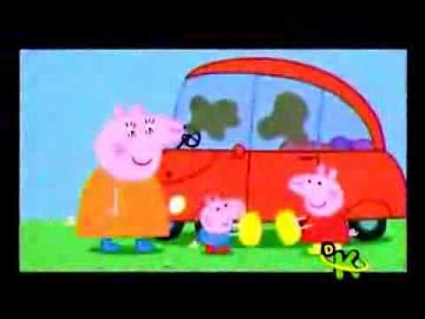 peppa la cerdita limpiemos el auto   youtube