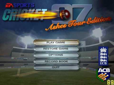 Cricket 97 Ashes Tour Edition InGame Music & Screenshots