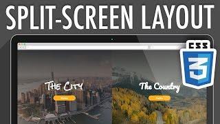 Responsive Split-Screen Layout CSS3 | XO PIXEL