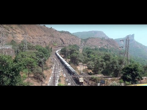 Beautiful Khandala Ghat Coverage ! Train, Tunnels, Nature & Mumbai Pune Expressway video