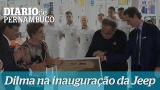 Dilma na inaugura��o da Jeep