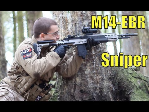 Airsoft War M14 EBR, Scar-L, MP9 Scotland HD