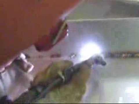 我らが職人のアルゴン溶接の腕 2007.7.11