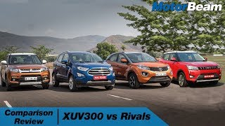 XUV300 vs EcoSport vs Nexon vs Vitara Brezza | MotorBeam हिंदी