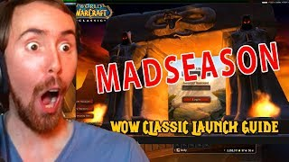 Asmongold Reacts To MadSeason WoW Classic Launch Guide & Preparation