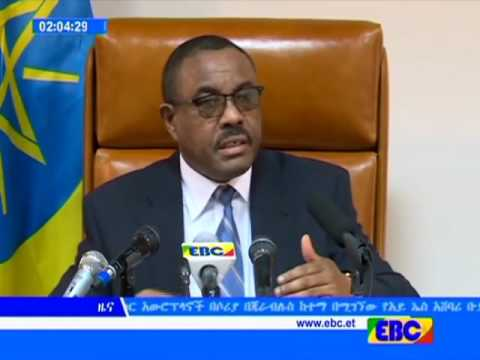Ethiopian Prime Minister Hailemariam Desalegn Speaks about Oromo and Amhara Protests in His Latest P