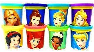 Disney Princess Play-Doh Toys Rapunzel Belle Cinderella Snow White Ariel Tiana Jasmine Aurora