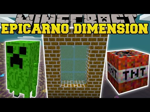 Minecraft: EPICARNO DIMENSION MOD (TEMPLES, FAT CREEPERS, TNT STAFFS, & MORE!) Mod Showcase