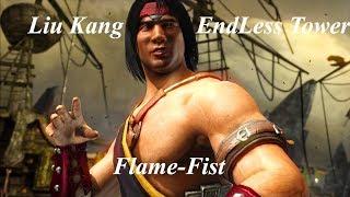 Mortal Kombat X Liu Kang Endless Tower (Flame fist)