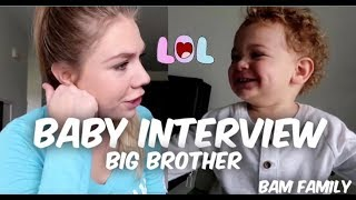 Interviewing My 1 Year Old About Becoming a Big Brother | Baby 2 Name Reveal
