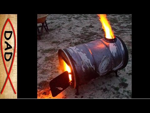 Barrel stove kit - another but best 55 gallon drum stove build!