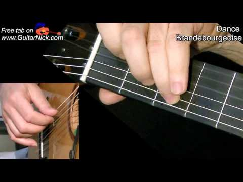 0 Danse Brandebourgeoise: classical guitar + TAB! Learn to play