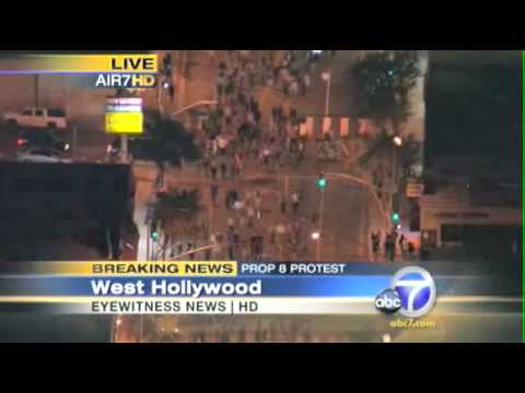 Prop 8 Gay Marriage Protest/March Nov 5th ABC 7 Part 1