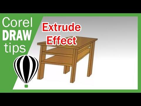 Extrude in CorelDraw