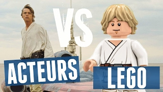 LEGO STAR WARS vs ACTEURS