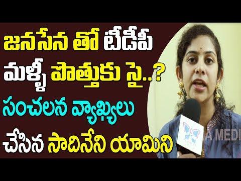 జనసేన తో టిడిపి మళ్ళి పొత్తుకు సై..? Sadineni Yamini Shocking Comments On TDP - Janasena Alliance