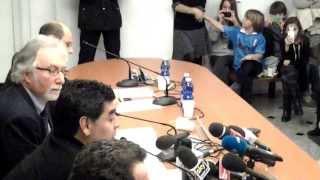 Intervento di Diego Maradona nella sede romana del Parlamento Europeo - riprese di Paolo Trapani