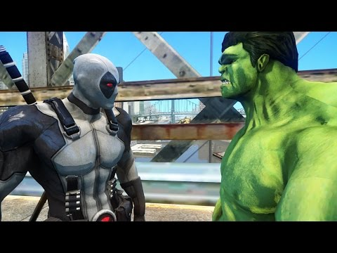 DEADPOOL (X-FORCE) VS HULK - EPIC BATTLE