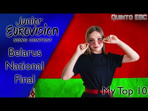 Junior Eurovision 2019 - Belarus National Final - My Top 10 - Quinto ESC