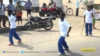 Powerstar Srinivasan at Road Safety Helmet Awareness Rally | Galatta Tamil
