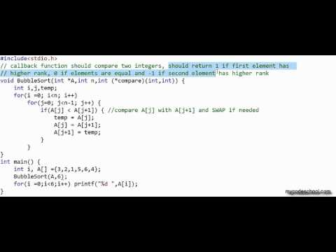 Function pointers and callbacks