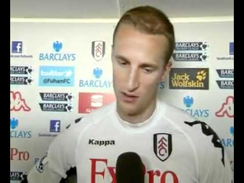 Brede Hangeland Interview After Fulham's draw against Blackburn.