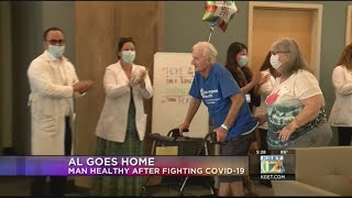 COVID-19 patient goes home healthy