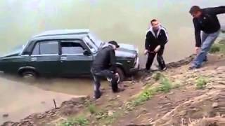 Lada drift fail  Falls off cliff    YouTube