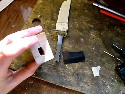 Как сделать оковку для ножа в домашних условиях