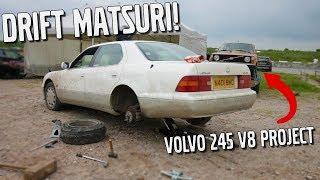 LCM Drift Matsuri - Volvo 245 V8 1UZ Project - Almost flipped a BMW