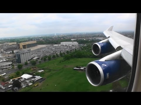 Excellent Approach and HD 747-400 Landing At London Heathrow!!!