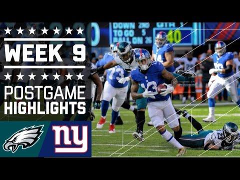 Eagles Vs Giants Nfl Week 9 Game Highlights