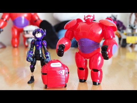 Disney Big Hero 6 Toys - Hiro Hamada & Baymax Action Figure Unboxing & Review