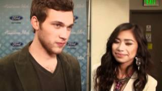 American Idol Finalists Phillip Phillips & Jessica Sanchez Interview - Post Finale Performance