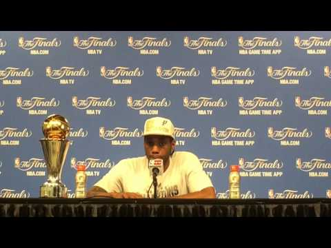Kawhi Leonard talks about the San Antonio Spurs' Game 5 victory over the Miami Heat
