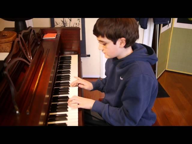 Will (11) plays Carnival di Venice on piano