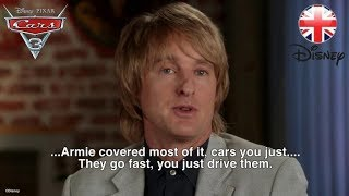 CARS 3    Armie Hammer out-does Owen Wilson with his Cars Knowledge    Official Disney UK