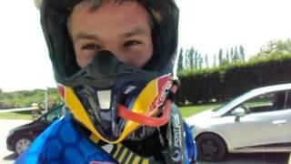 Sardegna Rally Race 2015: interview Jordi Viladoms, finish line of 1. stage