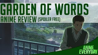 The Garden of Words Anime Review - AnimeEveryday Anime Reviews