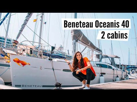 Meet Polar Seal!  A complete tour of our Beneteau Oceanis 40, 2 cabins layout, from 2007 #19