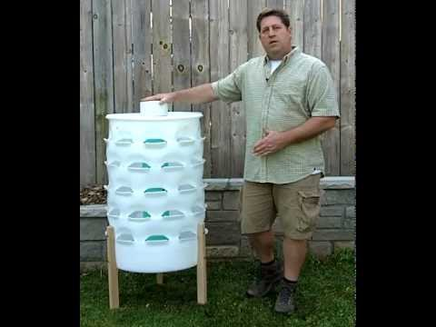The Composting Vertical Garden Tower, Available at GardenTowerProject.com