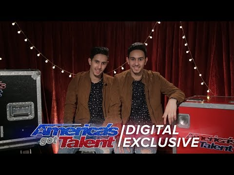 A Peak Behind the Magic with Twin Magicians Tony and Jordan  - America's Got Talent 2017