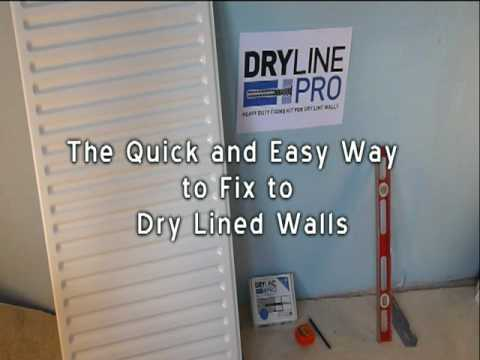 Fixing a radiator to dry lined wall with DrylinePro