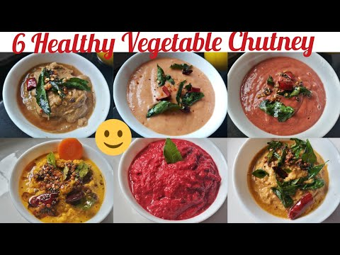 Vegetable Chutney| Side Dish|  6 Healthy Chutney for Breakfast