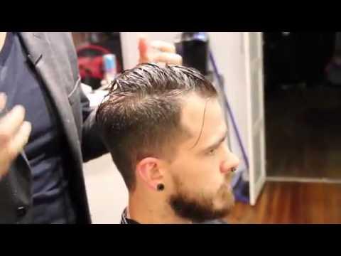 Haircut pompadour style