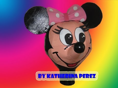 MINNIE MOUSE PINATA TUTORIAL